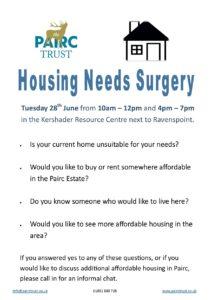 Housing Needs Surgery