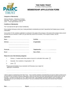 thumbnail of PT Membership Form Jan19