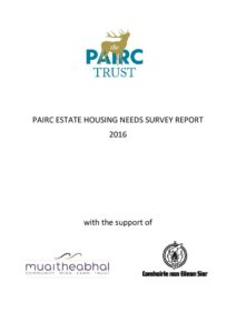 thumbnail of Pairc Estate Housing Needs Report 2016